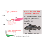 3 Hi-Lo GLOW Rigs + 2 Jig GLOW Rigs with Teaser Hook - Seabass - Blackfish